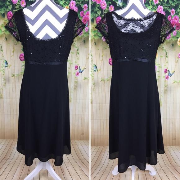 0b5be8e88b66 Dressbarn Dresses   Collection Black Lace Trim Dress Size 8   Poshmark